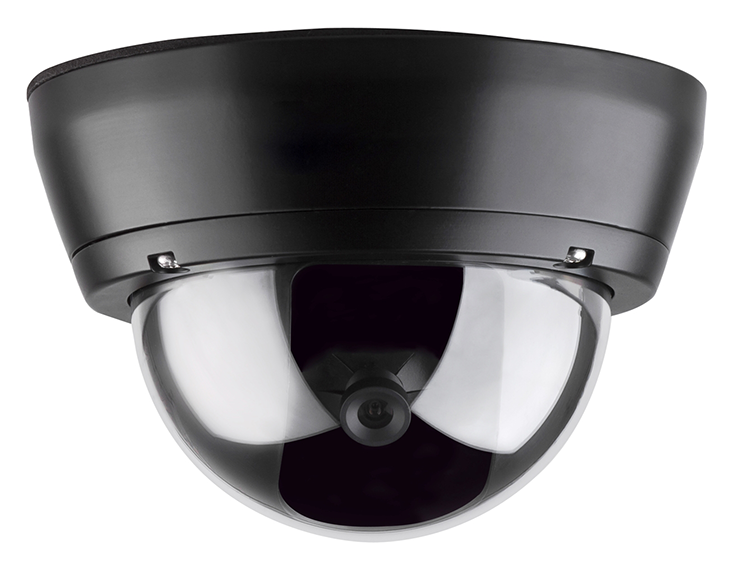 black dome camera - transparent background